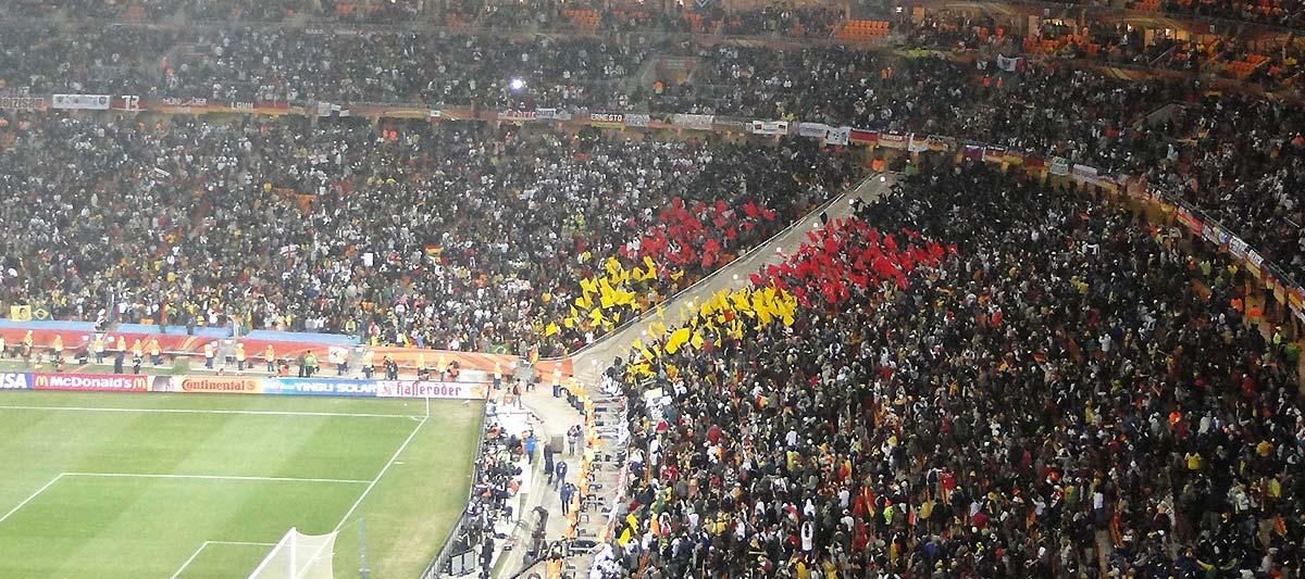 Fans bei einem Länderspiel von Deutschland