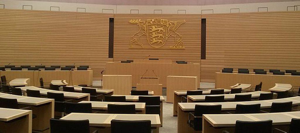 Sitzungssaal im Landtag von Baden-Württemberg