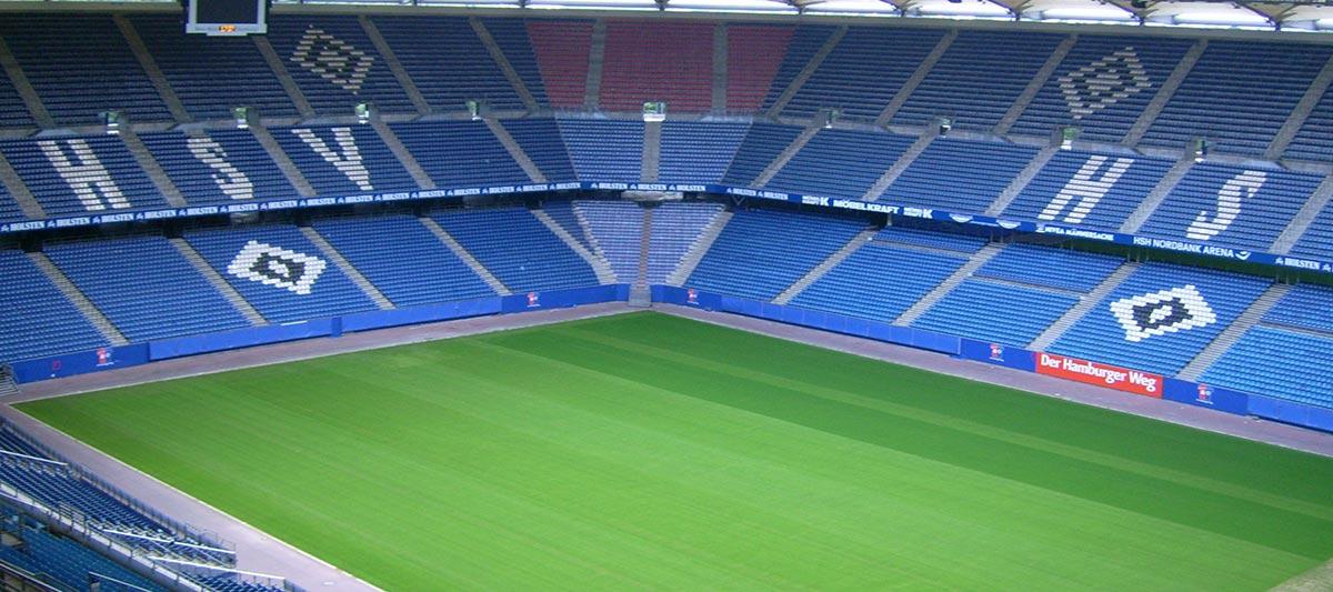 Blick ins Volksparkstadion